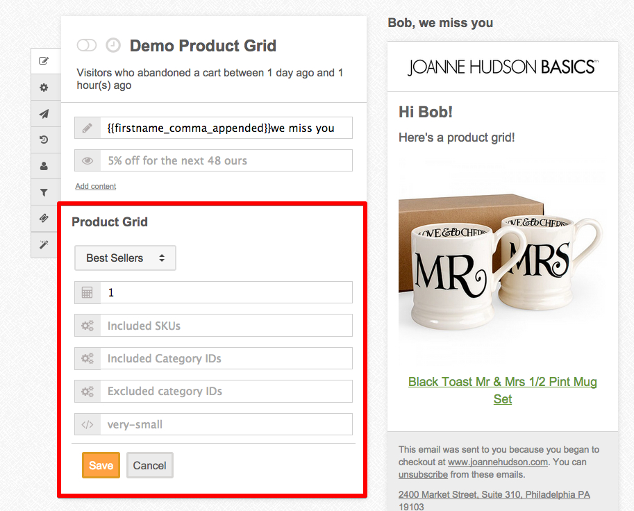 How Does The Product Grid Widget Work MageMail - Email grid template