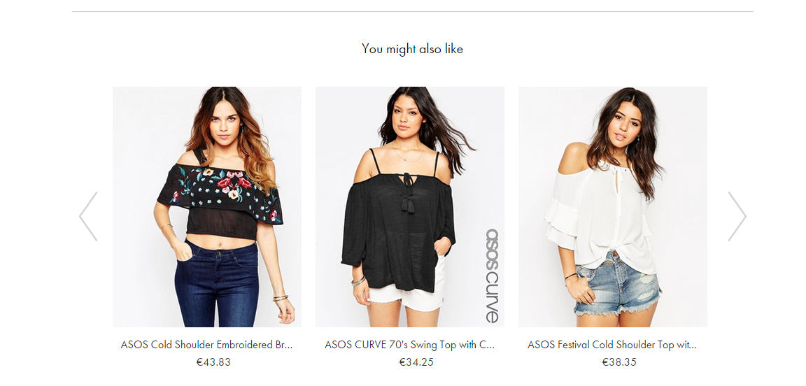 Product Recommendations - Asos