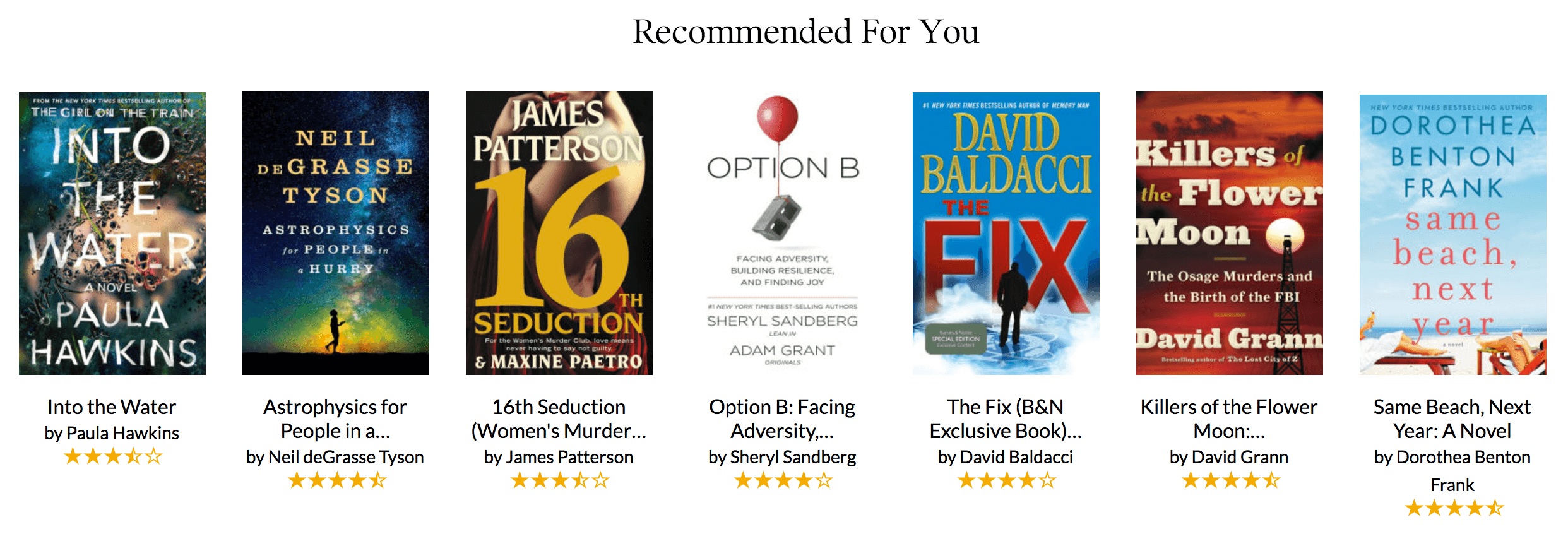 Product Recommendations - Barnes and Noble
