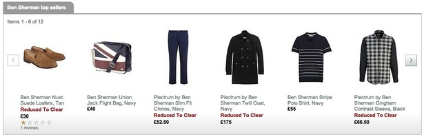 Product Recommendations - Ben Sherman