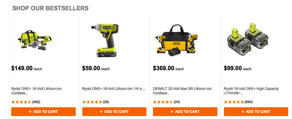 Product Recommendations - Homedepot