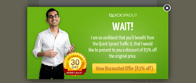 email optin pop up form by quicksprout