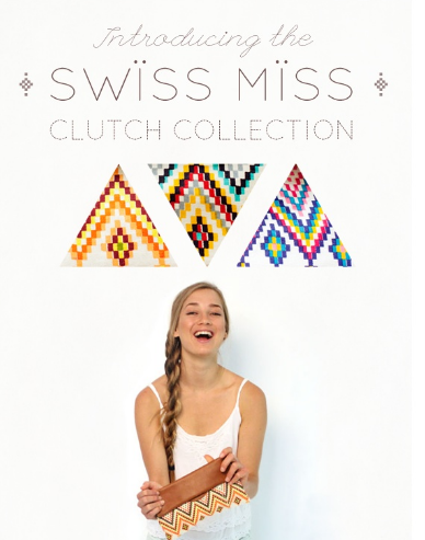 swiss miss newsletter showing a girl holding a bag