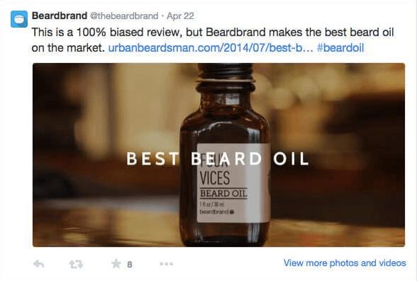loyal customer endorsing a product