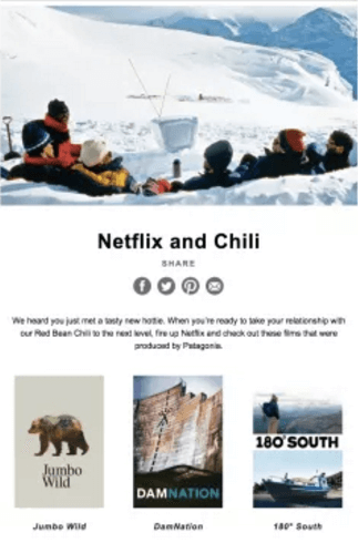 personalized email newsletter by netflix
