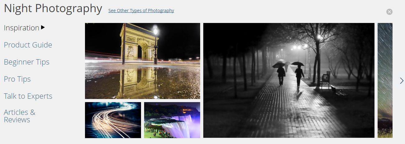 BH Photos Nights category