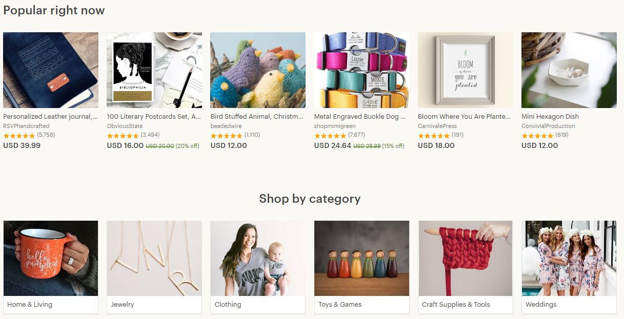 Etsy Product options