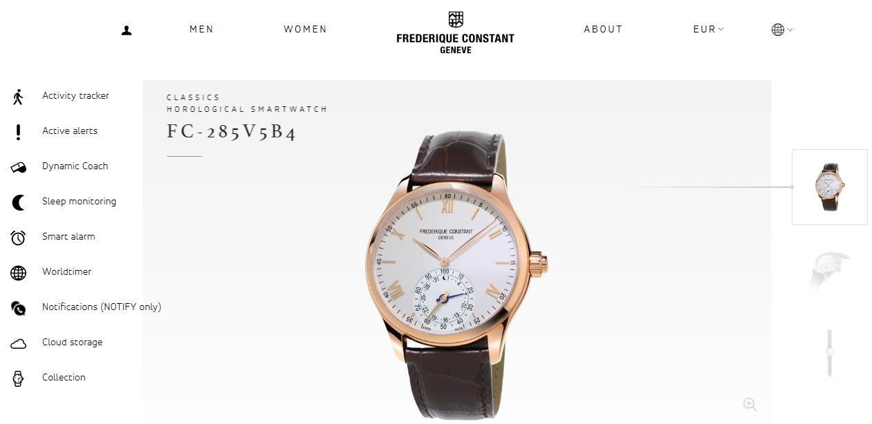 Horological Smartwatch Frederique Constant image close up