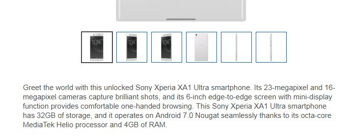 Sony Xperia Best Buy description