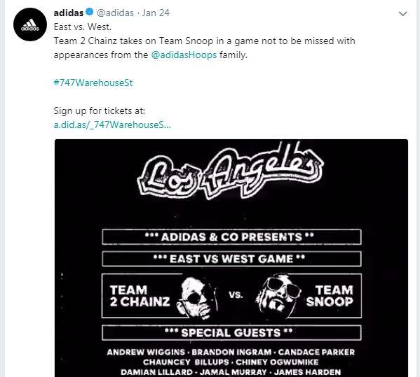 Adidas Social Media event