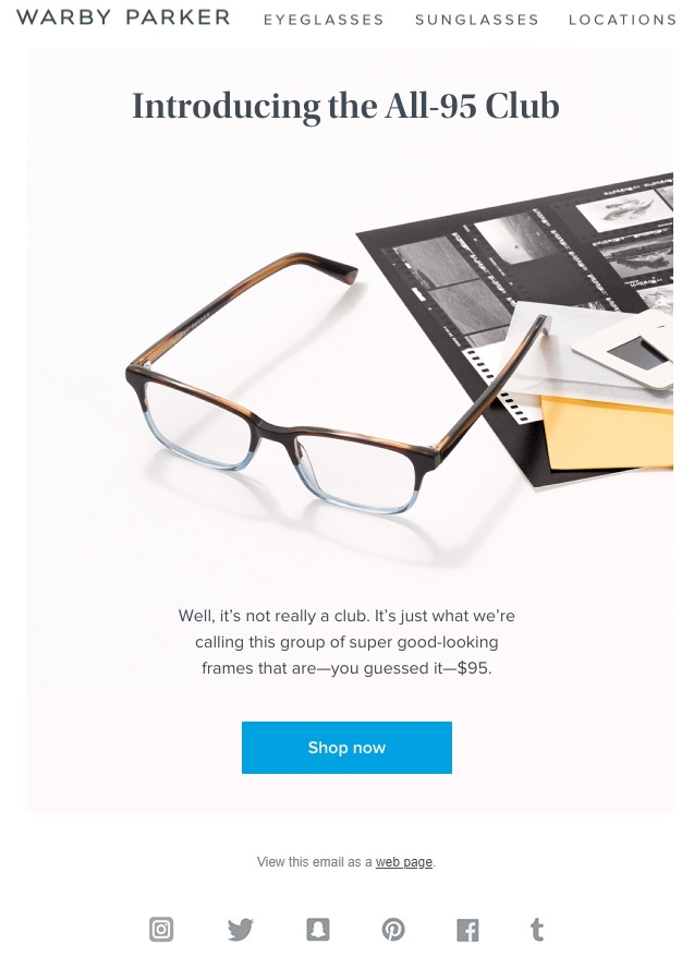 Warby Parker Personalization