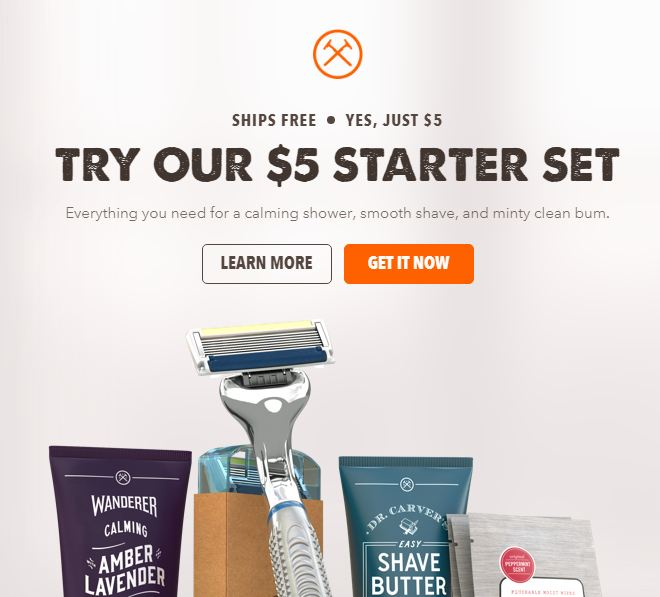 Dollar Shave Club sign up