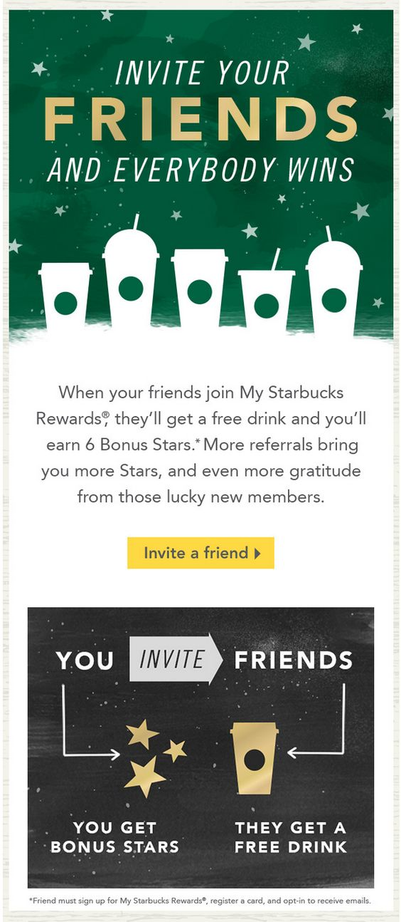 Starbucks referrals