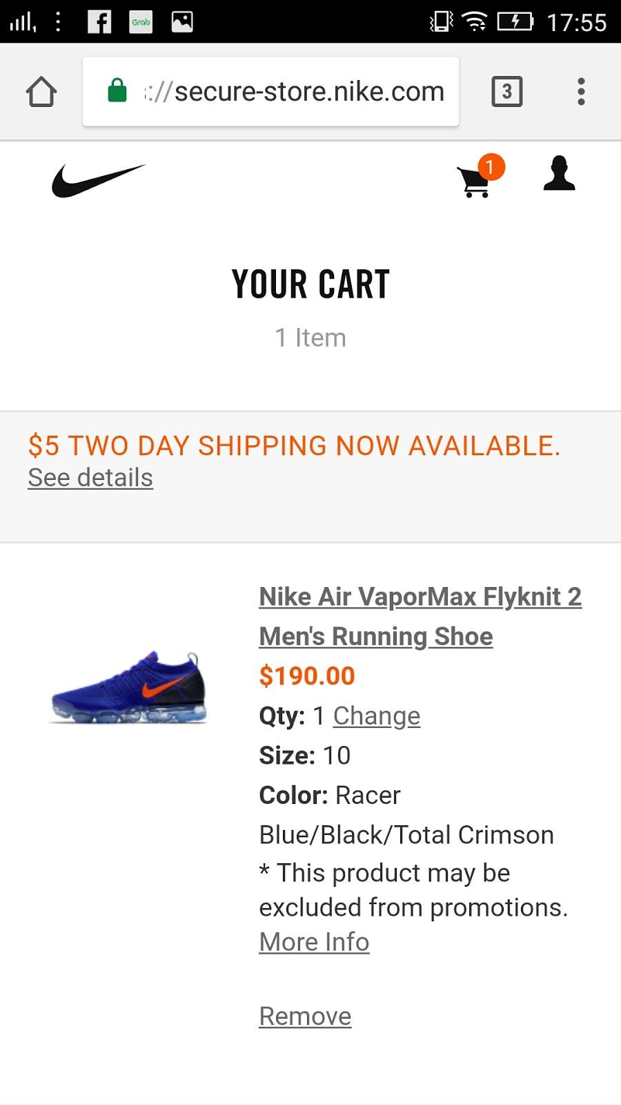 Nike Mobile checkout 1